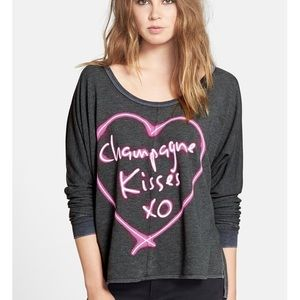 Champagne Kisses Chaser pullover sweatshirt
